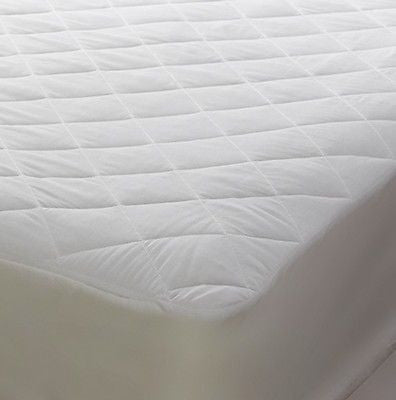 "Polycotton mattress protector for 3' x 7' bed 90cm x 213cm bed 15"" depth"