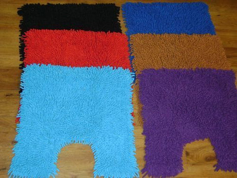 Luxury 2 piece shaggy bath mat set in 6 colours