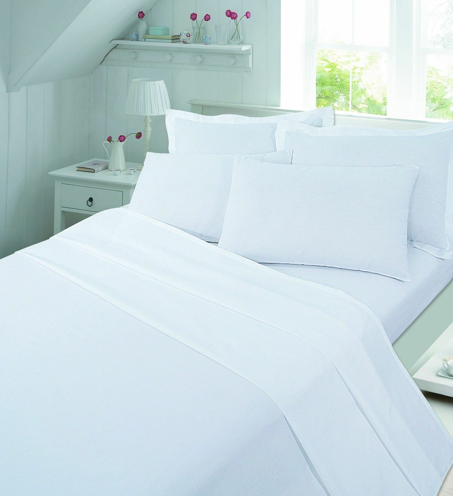 Flannelette 100% brushed cotton Pair of pillowcases