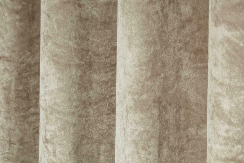 Shimmer velvet effect eyelet lined curtains, Natural easy to hang