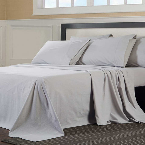 "Flannelette fitted sheet 100% brushed cotton 4' x 7' (122cm x 214cm) bed 8"" 10"" 12"" Mattress"