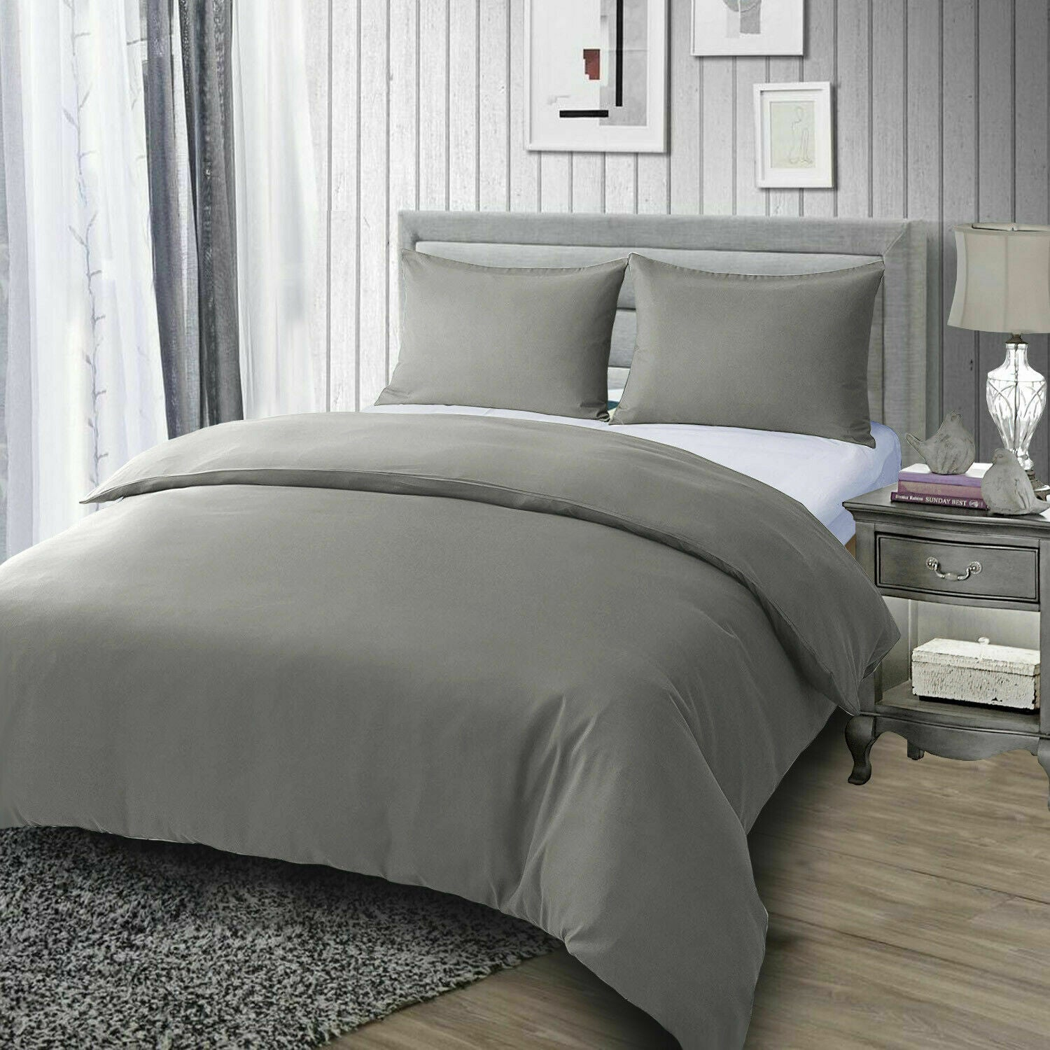 Duvet Cover & Pillowcase Set polycotton for superking bed