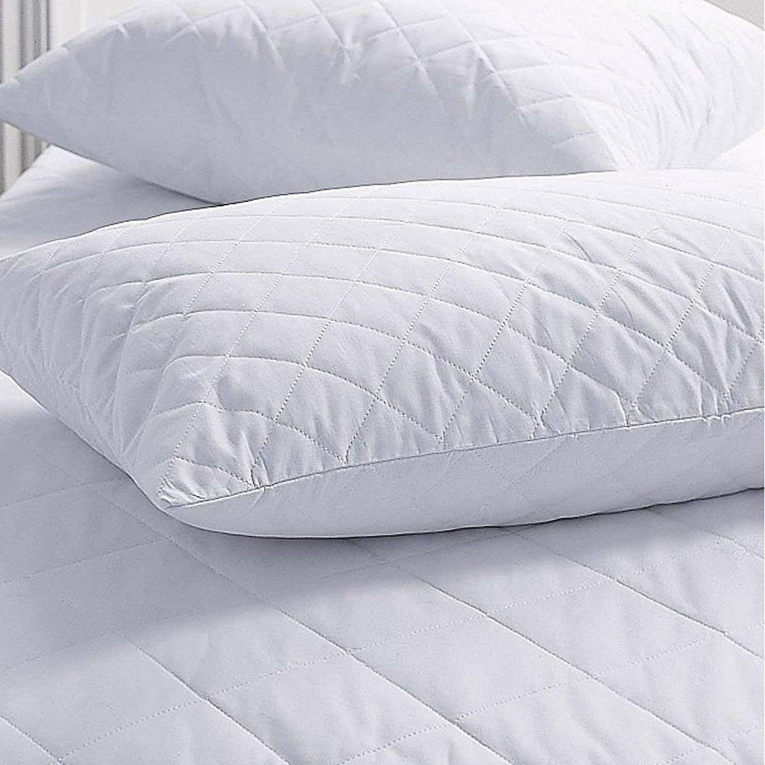 Quilted Deluxe Hollowfibre Filled Comfortable Pillow