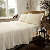 "Flannelette fitted sheet 100% brushed cotton 4' x 6'6"" (122cm x 200cm) bed 8"" 10"" 12"" Mattress"