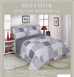 Ariana Restmor Quilted Reversible Patchwork Design Bedspread in 3 sizes with pillow shams - ( includes free Sham/s)