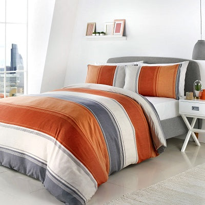 Bentley Easy Care Reversible Duvet Cover Bedding blue grey or spice