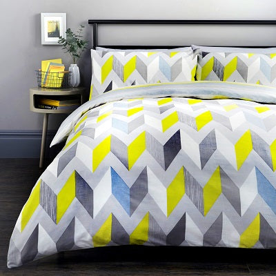 Grafix Easy Care Reversible Duvet Cover Bedding Set Grey or multi
