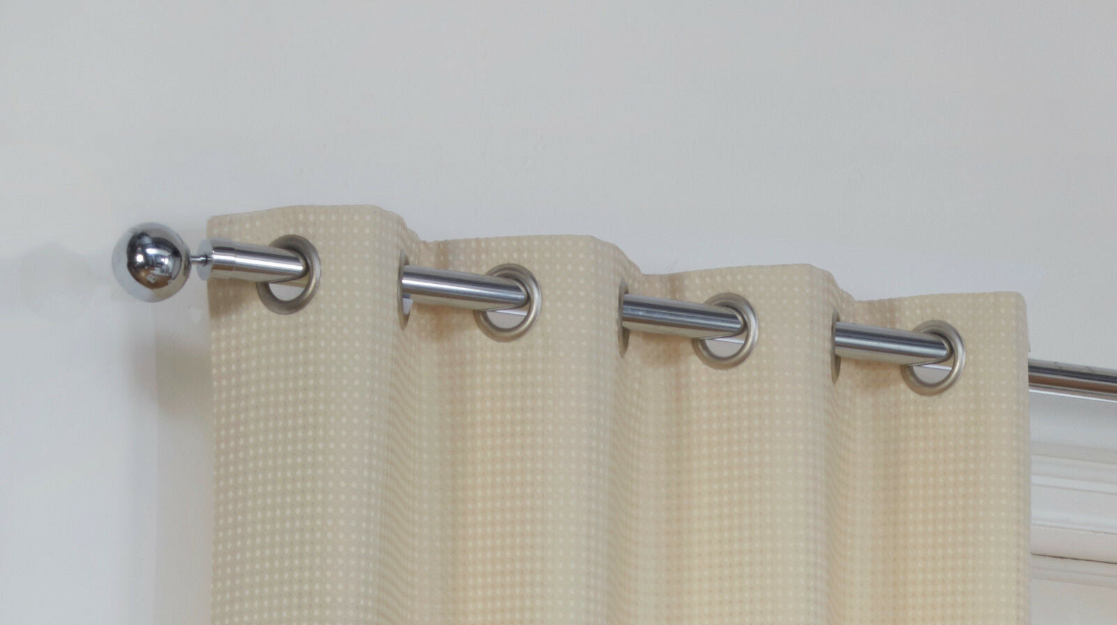 Waffle Eyelet/Ring Top Lined Curtain Pairs