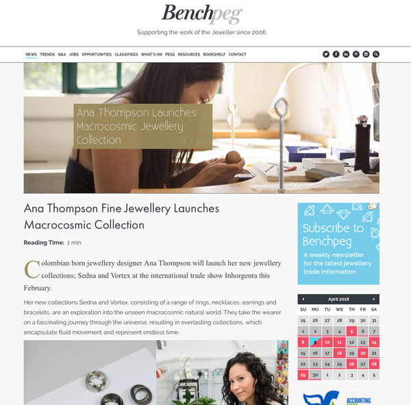 Ana Thompson Fine Jewellery - Benchpeg