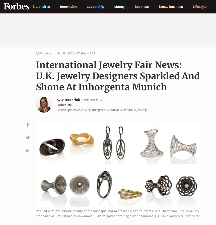 Forbes Ana Thompson Fine Jewellery