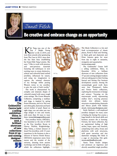 Ana Thompson Fine Jewellery - Jewellery Focus Magazine