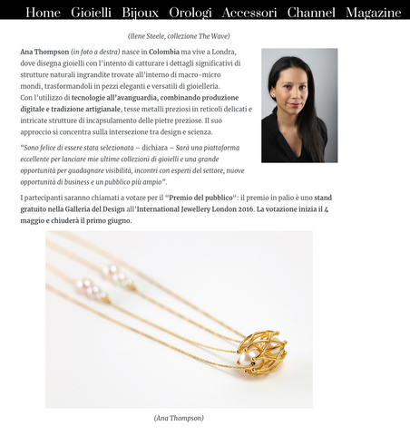 Ana Thompson Fine Jewellery - Preziosa Magazine