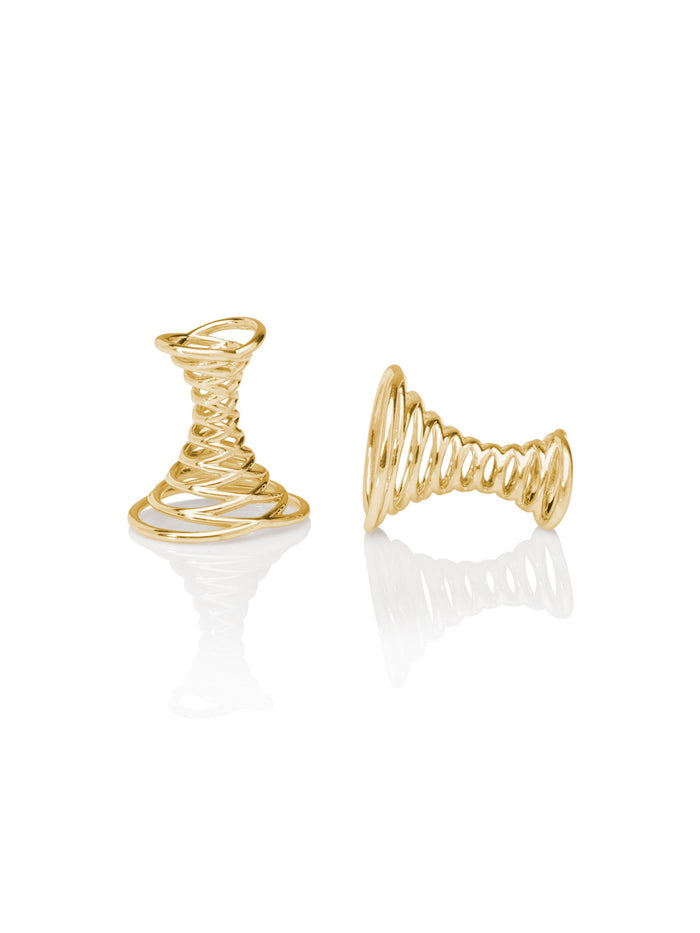 18K Yellow Gold Swirl Cufflinks