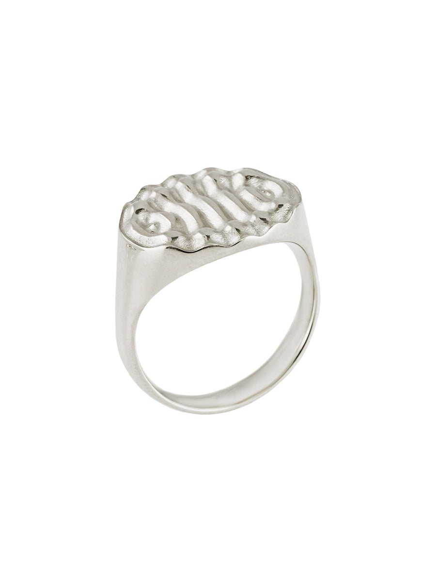 Sterling Silver Synchronise Signet Ring