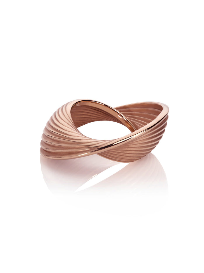 18K Rose Gold Vortex Ring