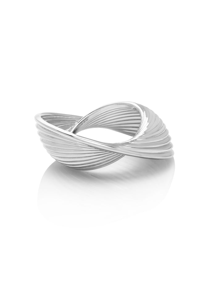 18K White Gold Vortex Ring