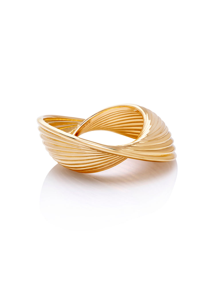 18K Yellow Gold Vortex Ring