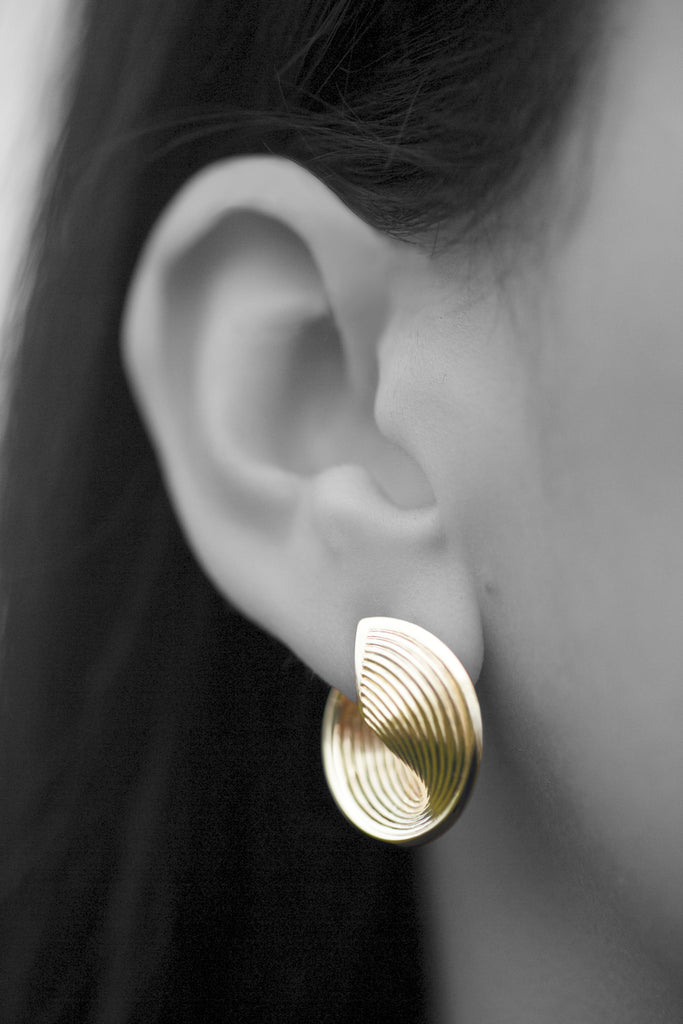 Vortex Earrings -18K Yellow Gold
