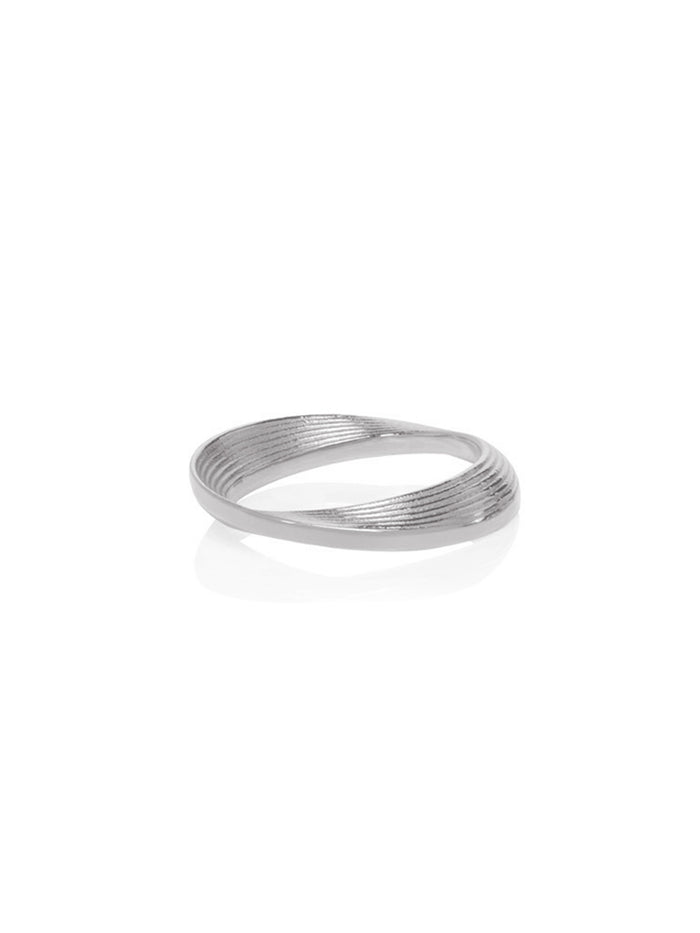 18K White Gold Micro Vortex Ring