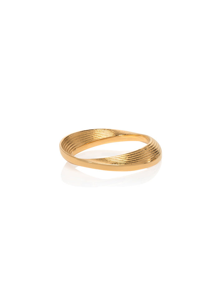 18K Yellow Gold Micro Vortex Ring