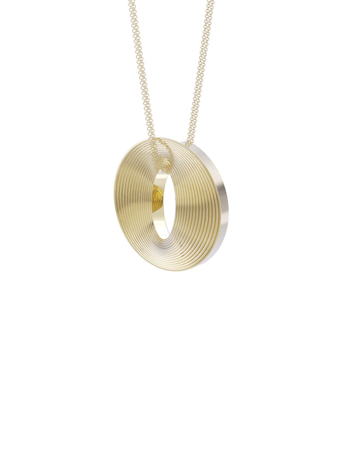 18K Yellow Gold Full Circle Necklace