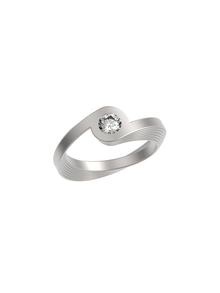 18K White Gold Celeste Ring