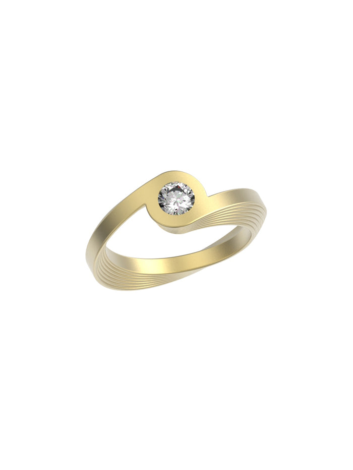 18K Yellow Gold Celeste Ring