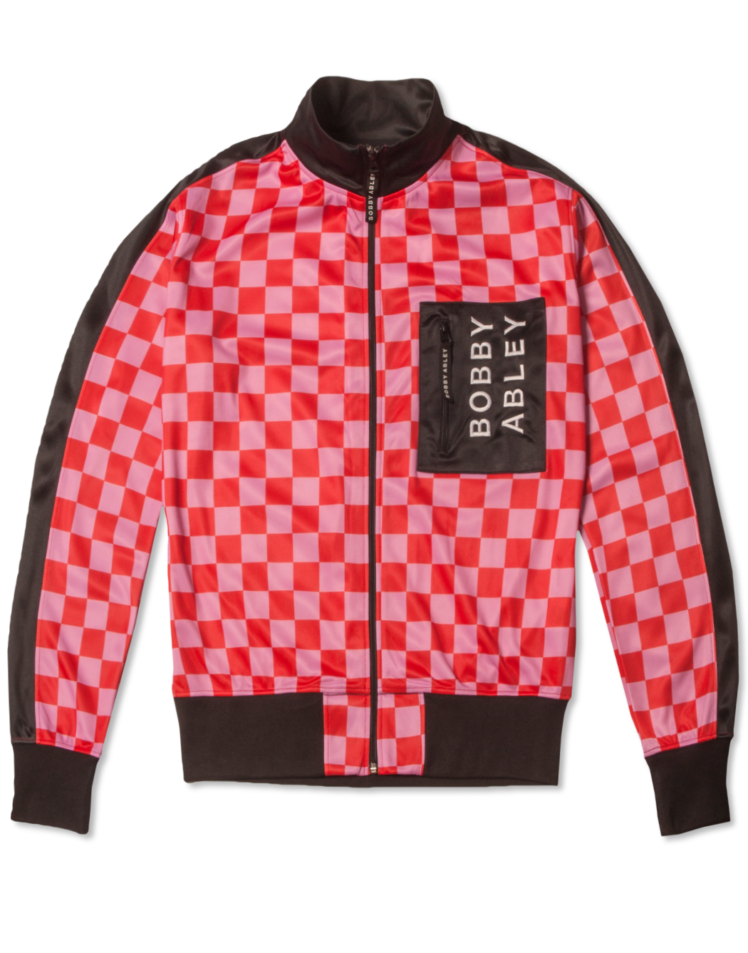 BOBBY MERCH - PINK CHECK TRACK JACKET