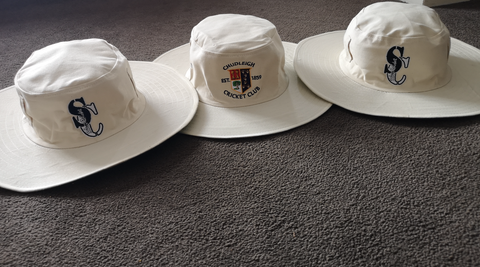 Custom Club Flat Brim Sun Hats-Select Cricket Store