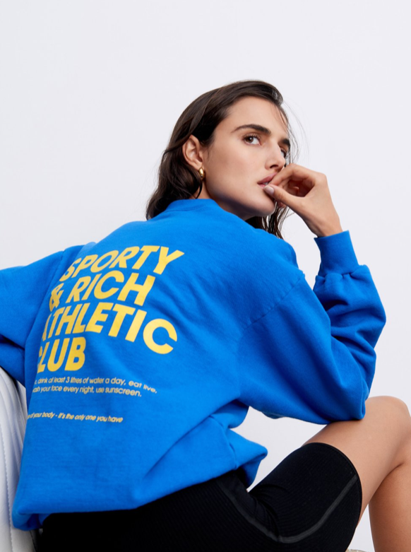 EXERCISE OFTEN CREWNECK ROYAL BLUE