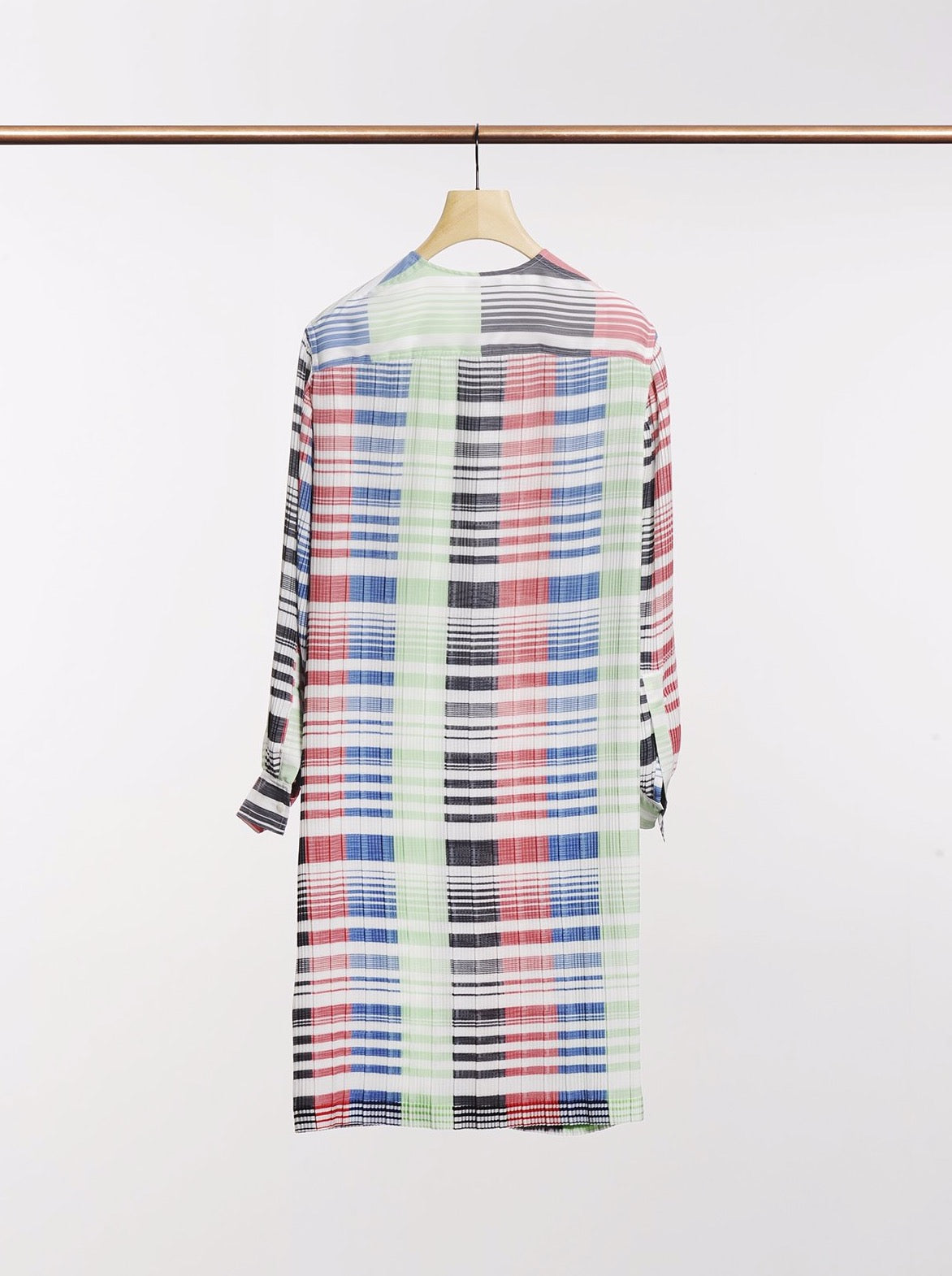 MULTI COLOUR MICRO PLEAT DRESS