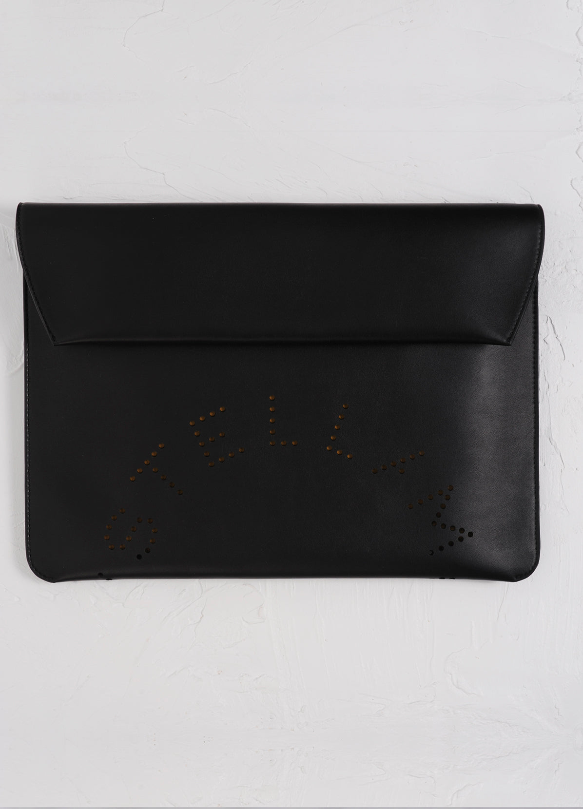 ENVELOPPE CASE WITH PERFORATED LOGO