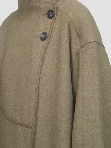 CLASSIC MELTON WOOL BLANKET COAT