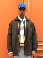 WOOL SERGE OVERSHIRT JACKET