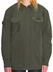 MILITARY SHIRT WITH LOGO EMB