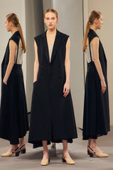 BLACK OPEN BACK DRESS