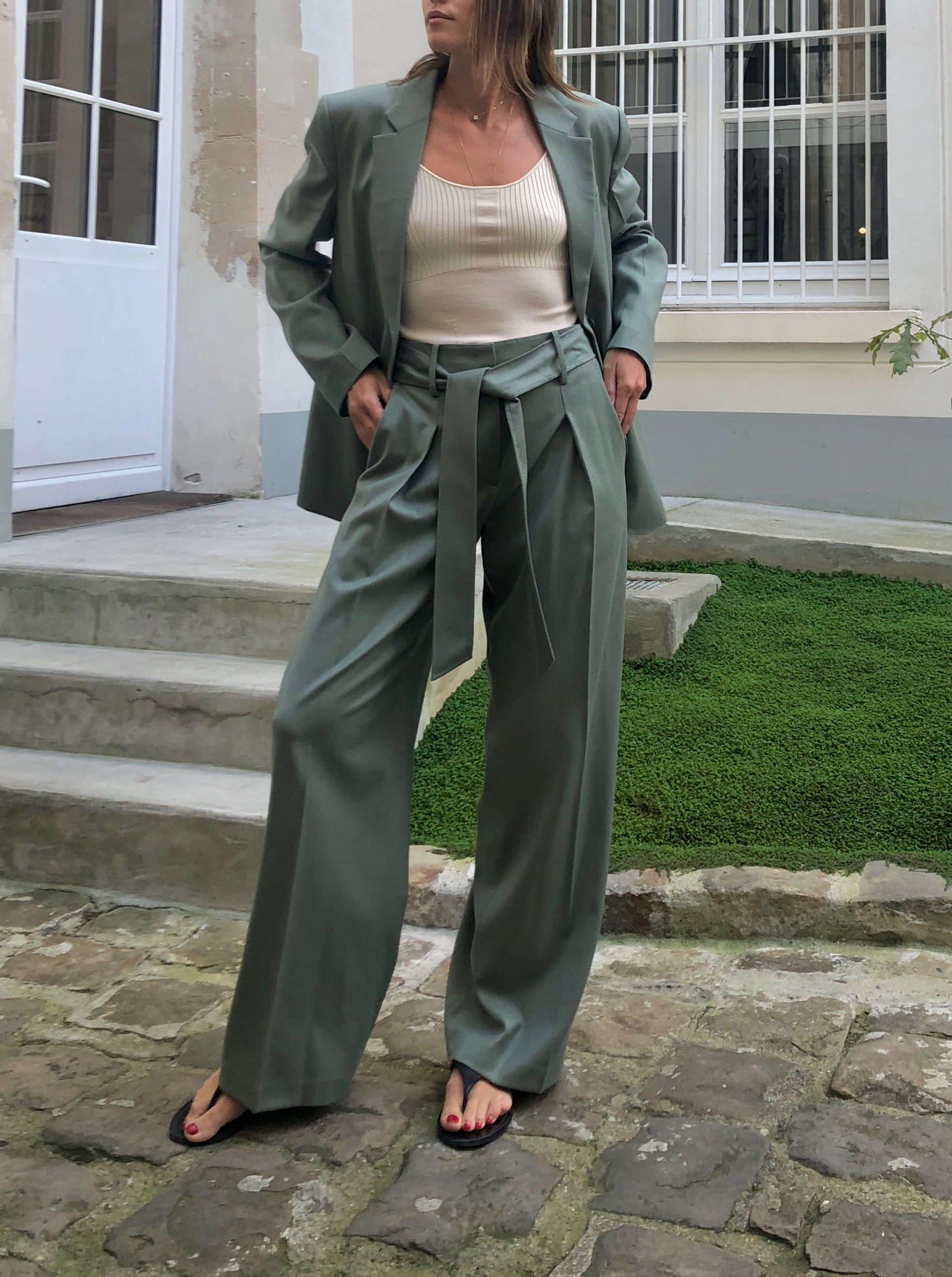 SMOKE GREEN PANTS