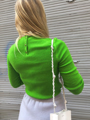 NEON GREEN KNIT TOP