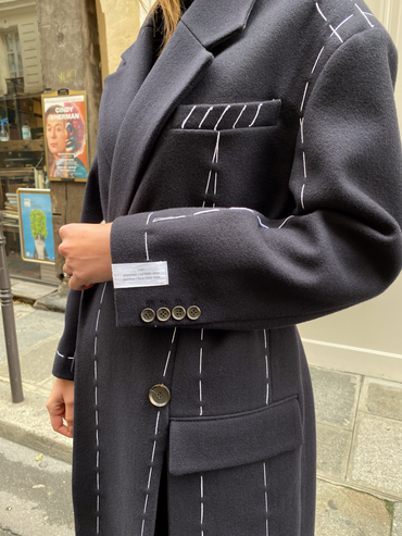 LONG COAT WITH STITCH DETAIL