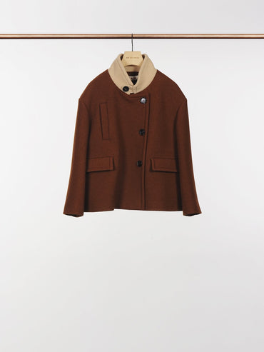 NOUGAT+SESAME WOOL JACKET