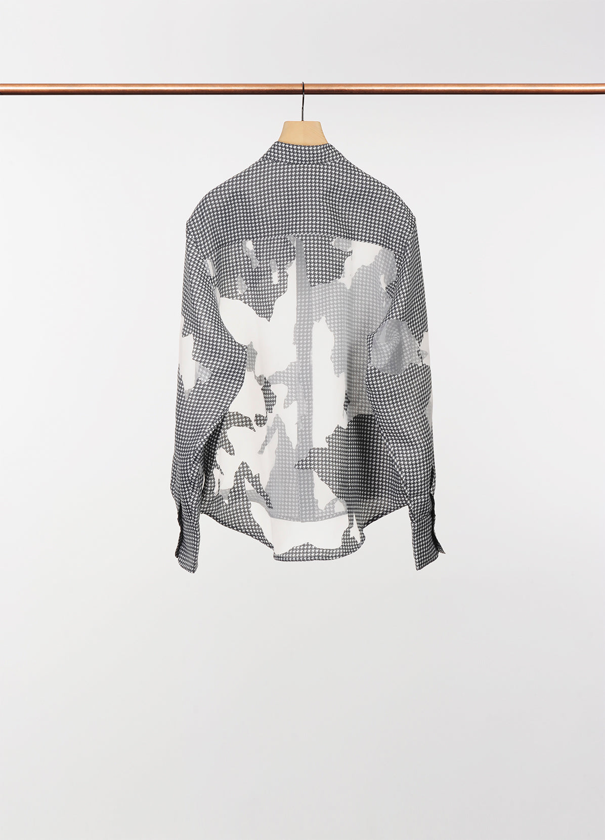 RELAXED FIT SHIRT, WITH DIGITAL PRINT AND A DISTRESSED DEVORE PRINT