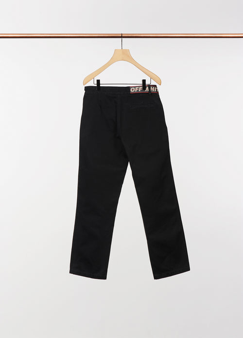 CHINO PANTS W/LOGO BELT