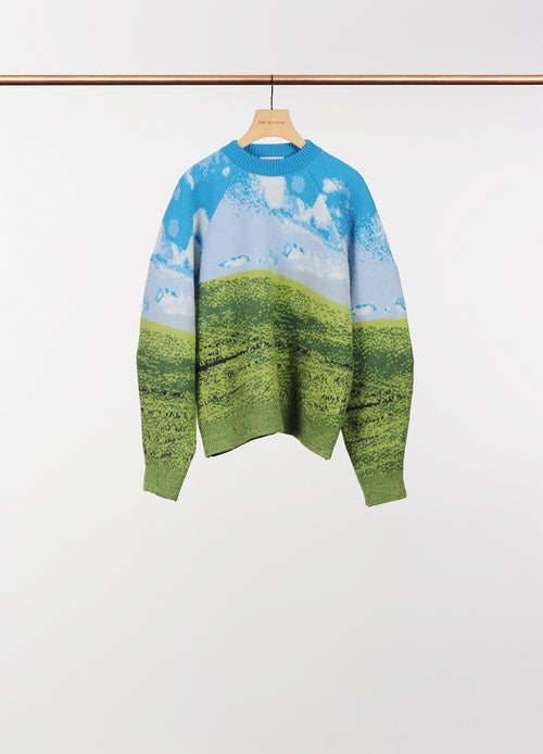 FELTED WOVEN OVERSIZED JUMPER