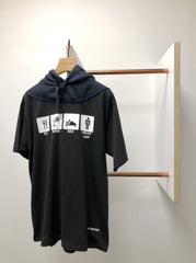 PRINT HOODED T SHIRT