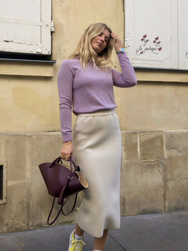 OATMEAL KNIT SKIRT