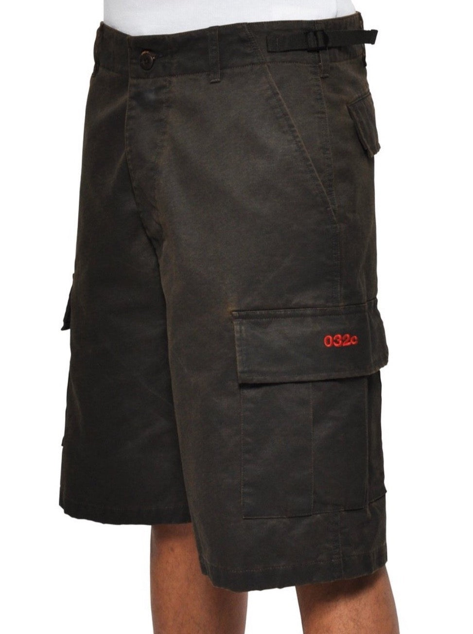 CARGO SHORTS WITH LOGO EMBROIDERY