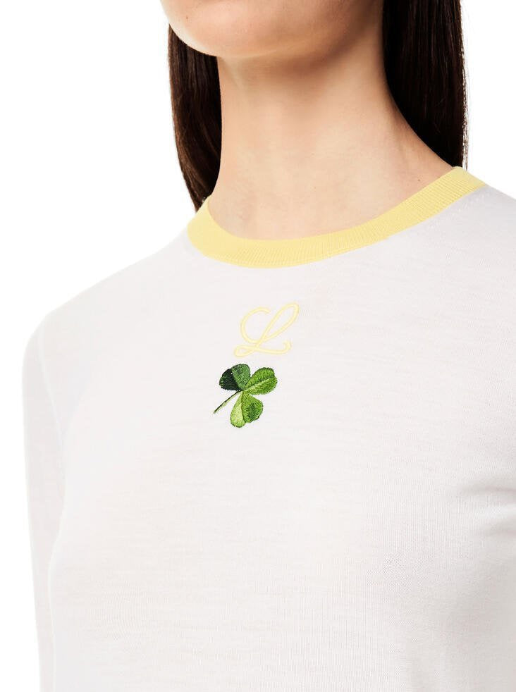 SHAMROCK EMB CROPPED SWEATER