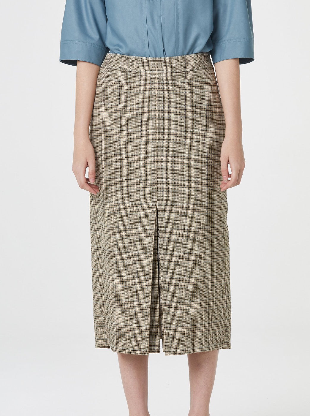 LIGHT BEIGE OPEN SPLIT SKIRT