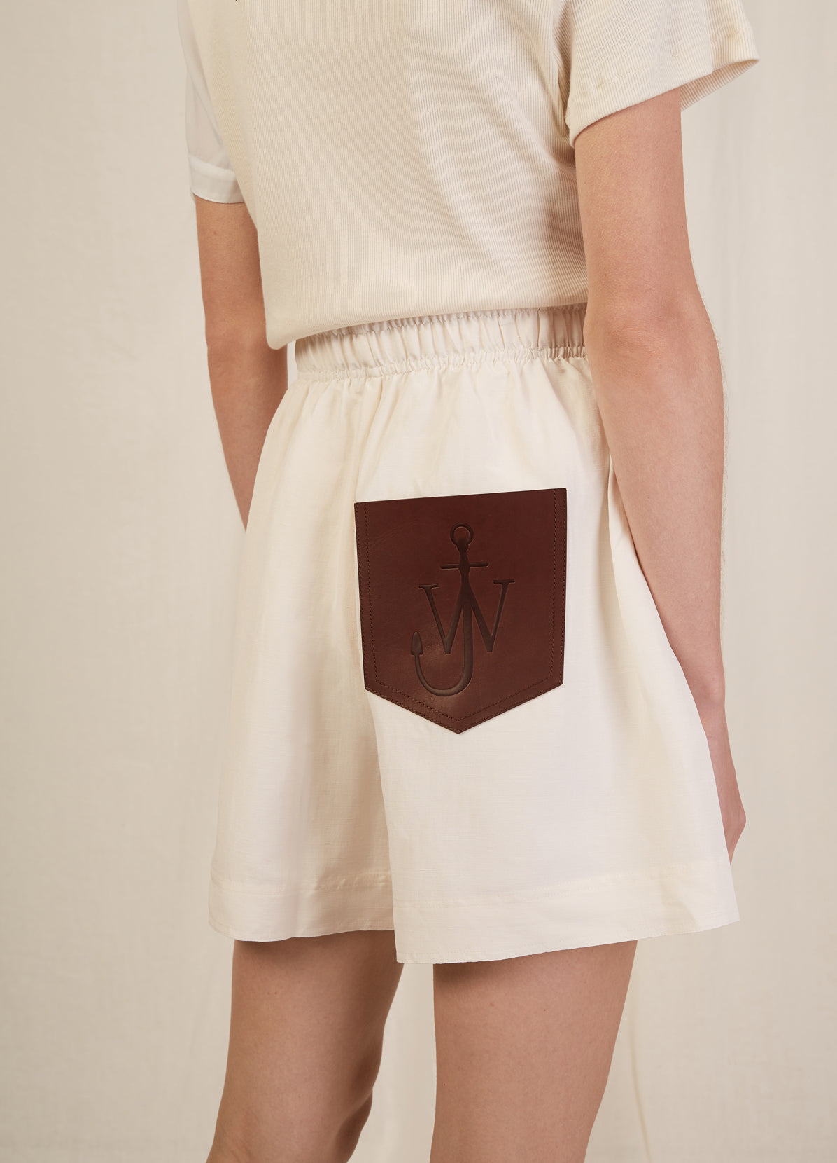 BOXER SHORTS WITH LEATHER POCKET DETAIL