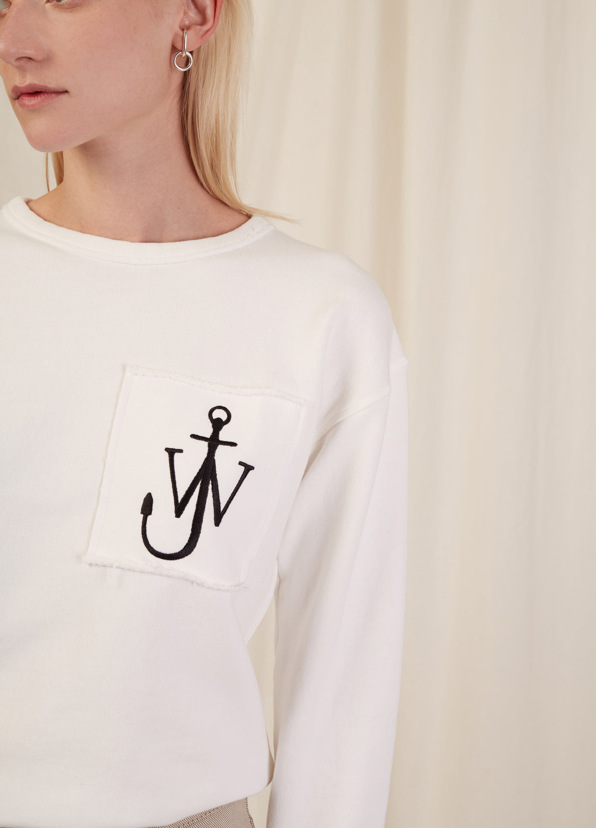 LOGO SWEATSHIRT WITH POCKET DETAIL